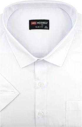 af0d7ad15afd2 Duża Koszula Męska Modely gładka biała na krótki rękaw Duże rozmiary K876 -  47/48