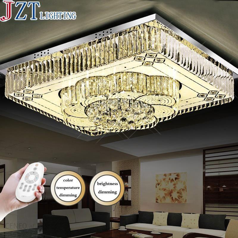 Aliexpress Z Nowoczesne Zdalnego Oświetlenia Jasne Led K9 Kryształowe Lampy Sufitowe Prostokąt Projekt Oświetlenie Oprawa Salon Pilot Sterowa
