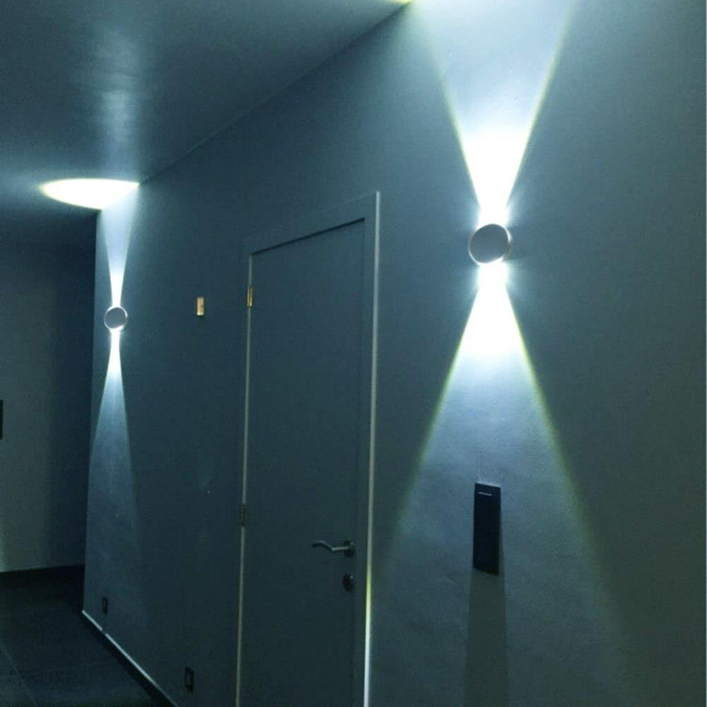 Aliexpress 3 W Led ściany światła Na ścianie Nowoczesny Oświetlenie Aluminiowe Oprawa ścienna Bułeczki Korytarz Dekoracji Sypialnia Salon Kryty Lam