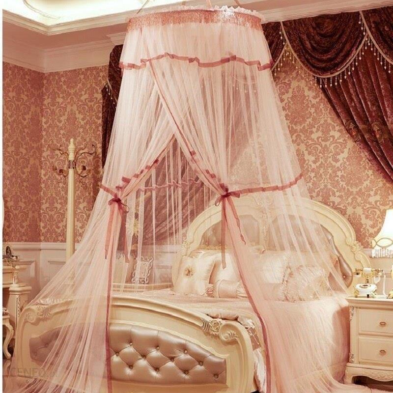 Aliexpress Księżniczka Wisiał Dome Pałac Owady Moskitiery Studentów Podwójne łóżko Z Baldachimem Siatki Koronki Zasłony Sypialnia Circular Moustiquair