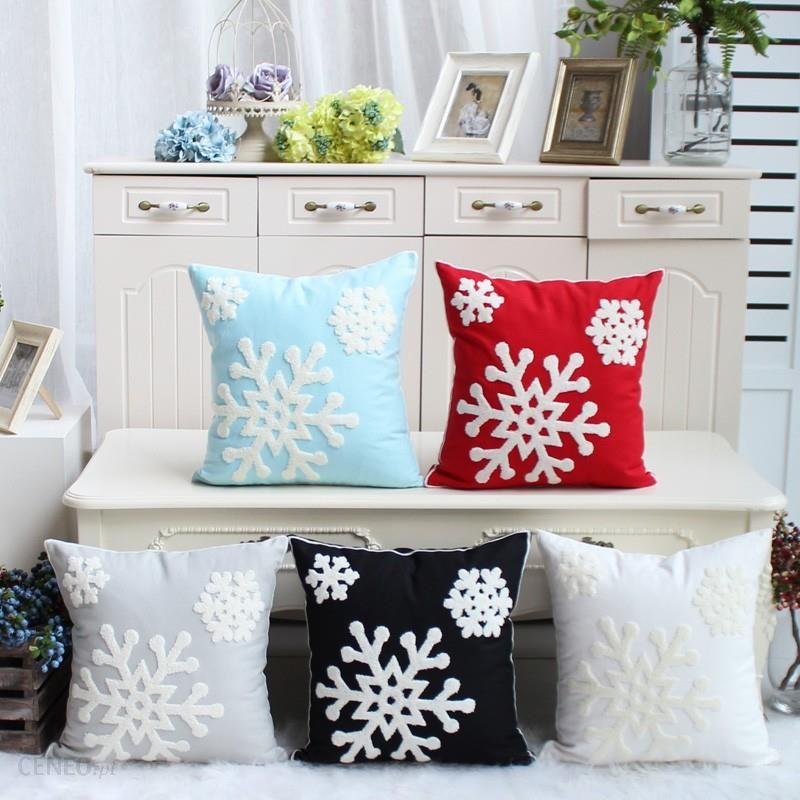 Aliexpress Snowflake Poszewka Na Poduszkę 100 Bawełna Haft Boże Narodzenie Dekoracyjne Sofa Home Decor łóżko Samochodów Ceneopl