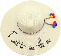 f8f8a85df Kapelusz słomkowy plażowy napis hello sunshine