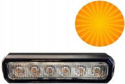 5b3e3e5c751486 Lampa ostrzegawcza stroboskopowa pomarańczowa 6x3W