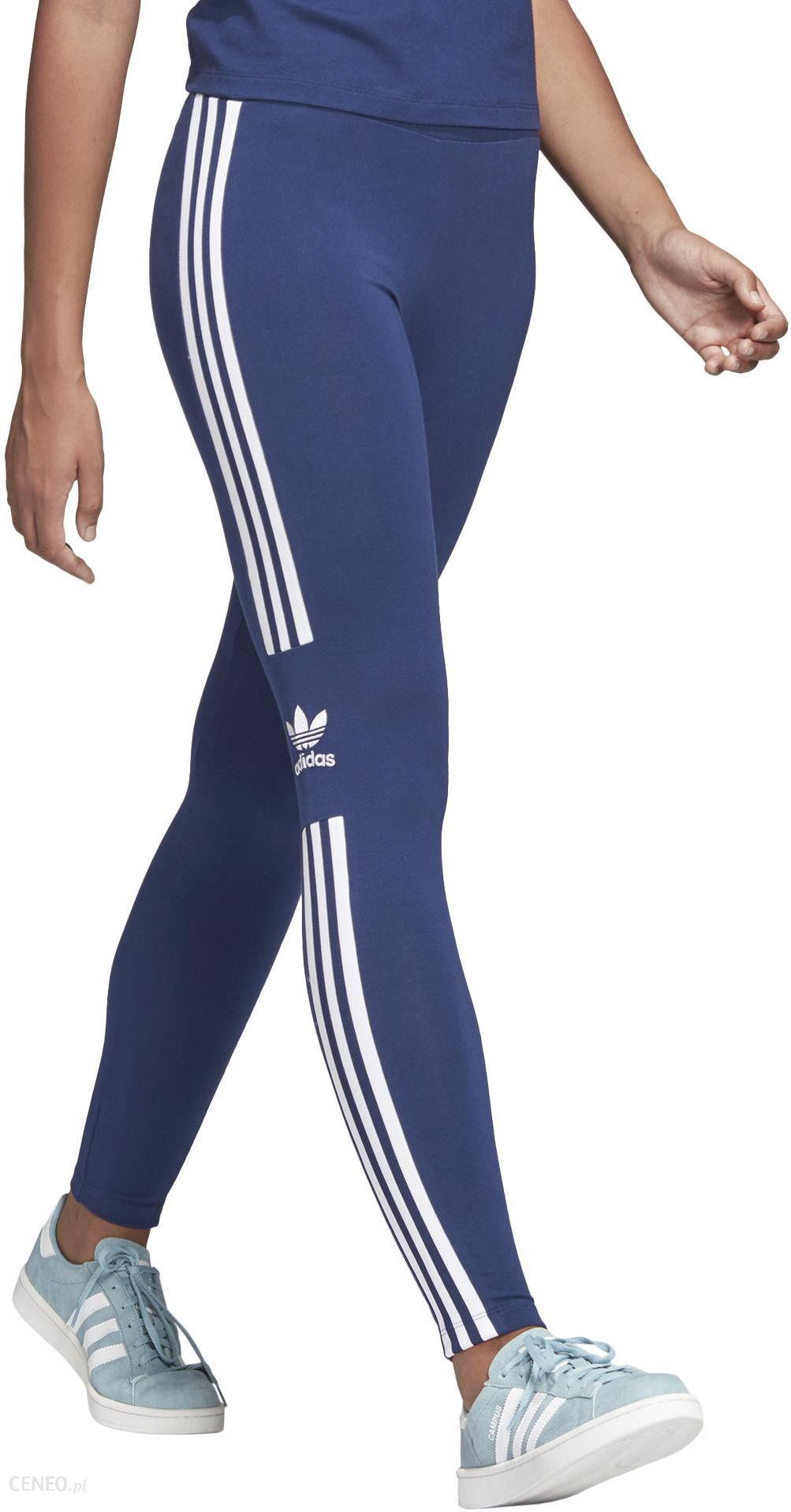 Legginsy w kolorze niebieskim do biegania Adidas
