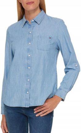 11078a0c3ec0f Koszula bluzka damska jeansowa Tommy Hilfiger L Allegro