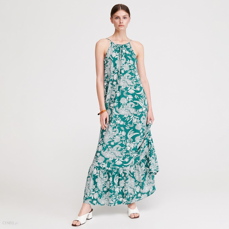 0bd79e5e Reserved - Długa sukienka z dekoltem na plecach - Wielobarwn - Ceny i  opinie - Ceneo.pl