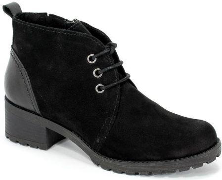b552b98fdf681 Pull&b Czarne botki na klocku (37) - Ceny i opinie - Ceneo.pl