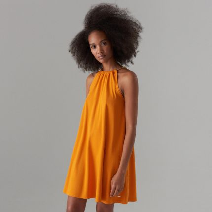 44dae2b9ef Mohito - Trapezowa sukienka z dekoltem halter - Pomarańczowy Mohito
