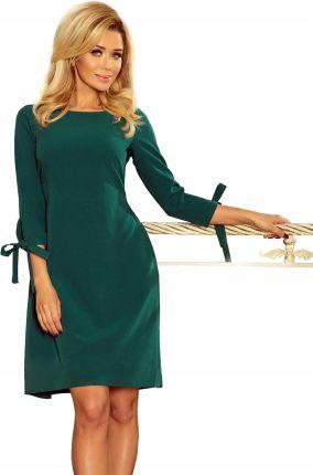 6286e62253 Koronkowa Sukienka Długi Rękaw Dekolt Zielona XL - Ceny i opinie ...