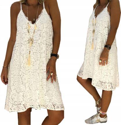 069f45dec81600 Seksowna Sukienka Letnia Koronka Boho Biała Czarna Allegro