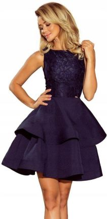f3a81d3928 Elegancka Sukienka na wesele z koronką 205-3 XL 42 Allegro