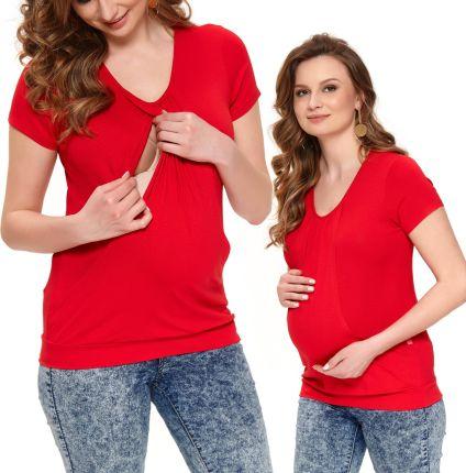 09d1978ff22cda Koszulka ciążowa z nadrukiem Baby loading czerwona