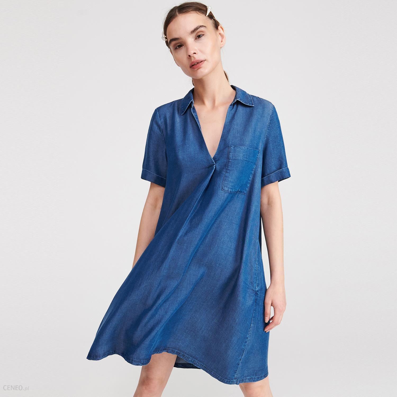 Reserved Denimowa sukienka z Tencelu™ Granatowy Ceny i opinie Ceneo.pl