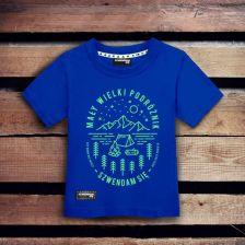 20ede1d55 Koszulka dla dziecka MAŁY WIELKI PODRÓŻNIK ciemnoniebieska 3-4 lata