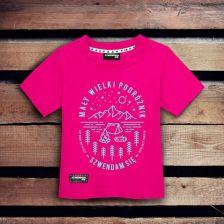 33f15c1c6 Koszulka dla dziecka MAŁY WIELKI PODRÓŻNIK różowa 3-4 lata
