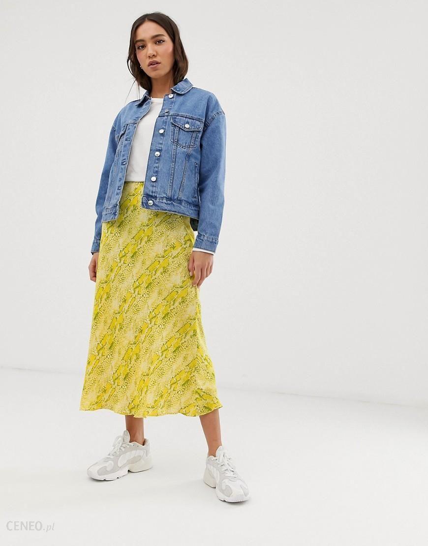 store various styles classic styles Whistles python bias cut midi skirt - Yellow - Ceneo.pl