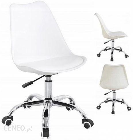 Litigomeble Krzesło Obrotowe Soa Do Biurka Z Poduszką Biały