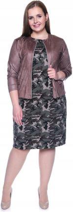 ad8ed8134a Gładka sukienka moro z kieszeniami 64 Allegro