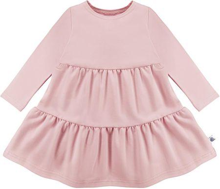 88c86dac7d006b Sukienka z przeszyciami brudny róż - różowy \ Dziecko