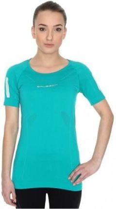 95dc28a250eeea Brubeck Athletic Koszulka damska z krótkim rękawem lazurowo zielona rozm. XL