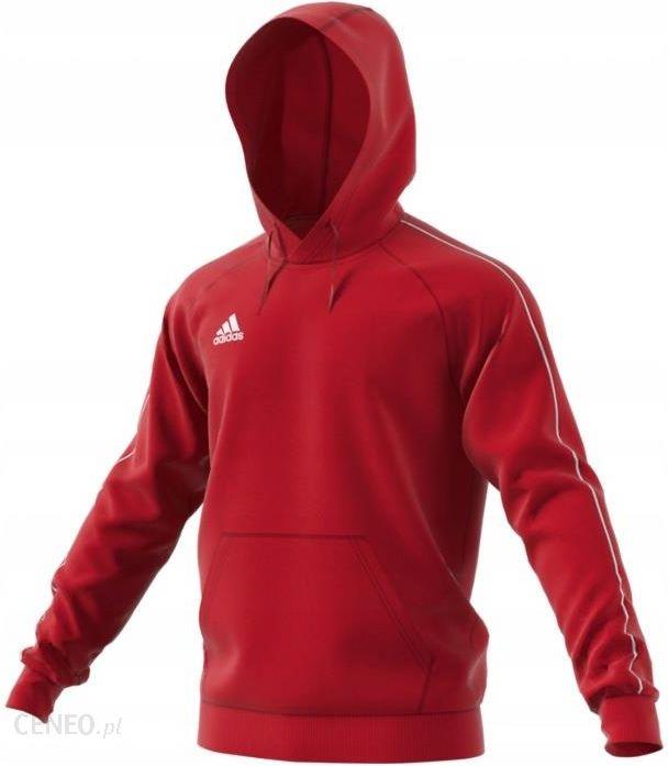 Bluza męska z kapturem Tiro 17 Hoody Adidas (czerwona) Ceny i opinie Ceneo.pl