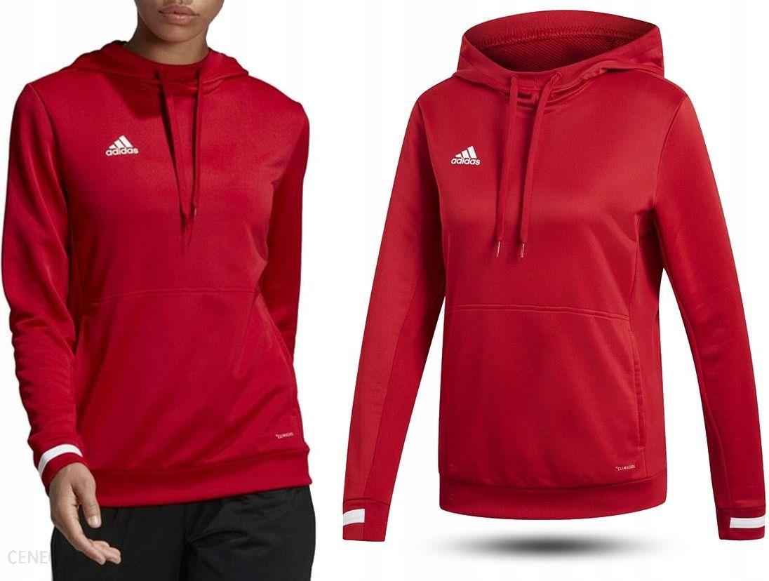 adidas bluza damska z kapturem czerwona