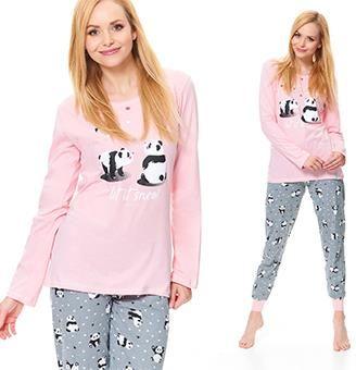 e845a994df05b3 Długa piżama w Pandy z bawełny spodnie i bluza L Allegro