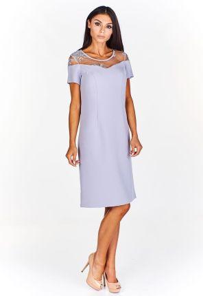 98b83b7e85 Podobne produkty do Elegancka sukienka z wyszywaną górą ozdobioną  połyskującymi cekinami rozkloszowana ku dołowi vaaco.pl