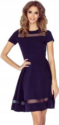 de4a08ff94 MM 003-2 Sukienka midi z tiulowymi pasami - L Allegro