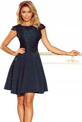 23ecb8a511 Podobne produkty do Rozkloszowana sukienka z koronką - butelkowa zieleń
