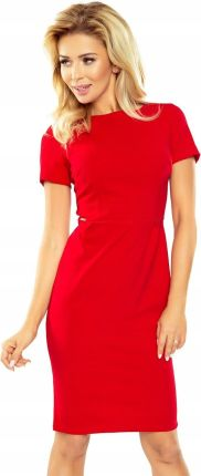 f1aebd1efb 150-2 Sukienka Dorota - elegancka - Czerwona - M Allegro