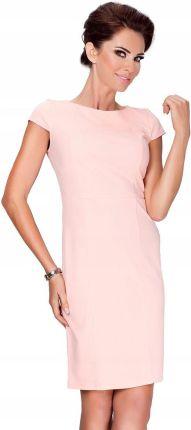 e8a9ea6c8f 48-06 CATERINA - sukienka z koronkową górą (pastel róż)