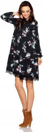 b93badc770 Trapezowa Krótka Sukienka wzory Jesień zima L Allegro