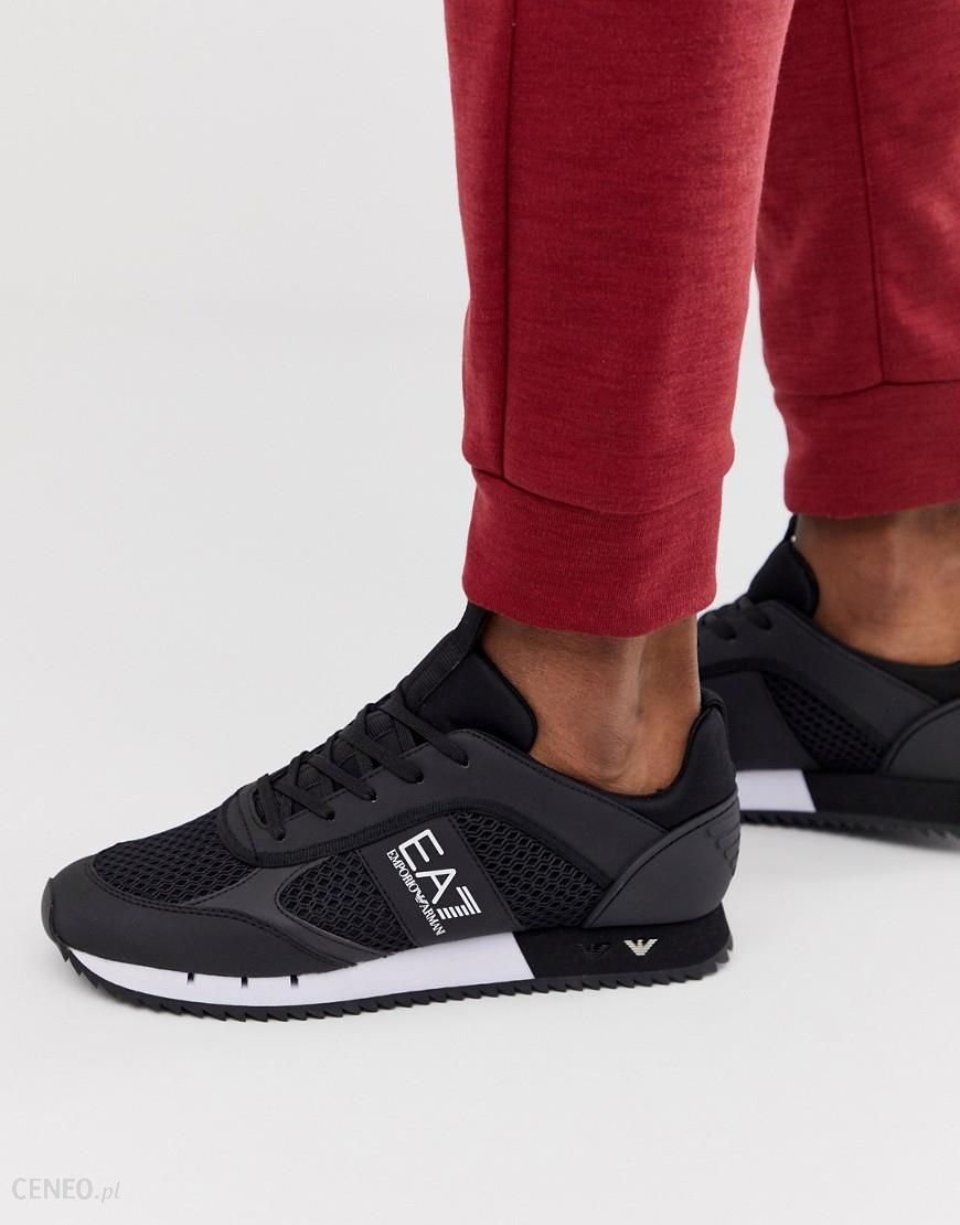 EA7 lace runner trainer in black