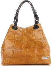 7ff30e169e4f5 ModneTorebki Skórzane Shopper Bag we wzór żółwia marki Vittoria Gotti Rude  (kolory)