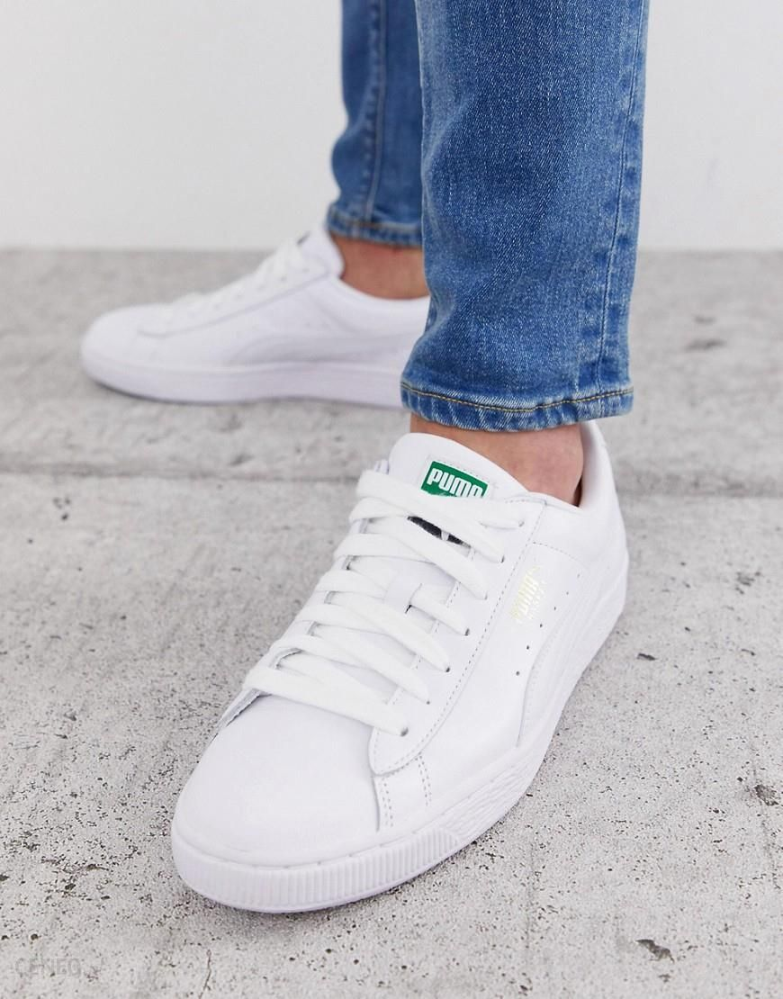 Puma Basket Classic trainers in white leather White