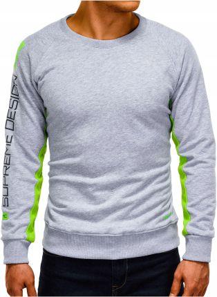 Bluza męska bez kaptura z nadrukiem B921 czarna