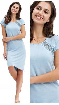 14146550fd9ca0 koszula nocna Luna 241 wiskoza niebieski - XL 42 Allegro. Pidżama  damskakoszula ...