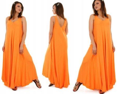 dd05c38d085 Niebieska rozkloszowana sukienka Moda damska - Ceneo.pl