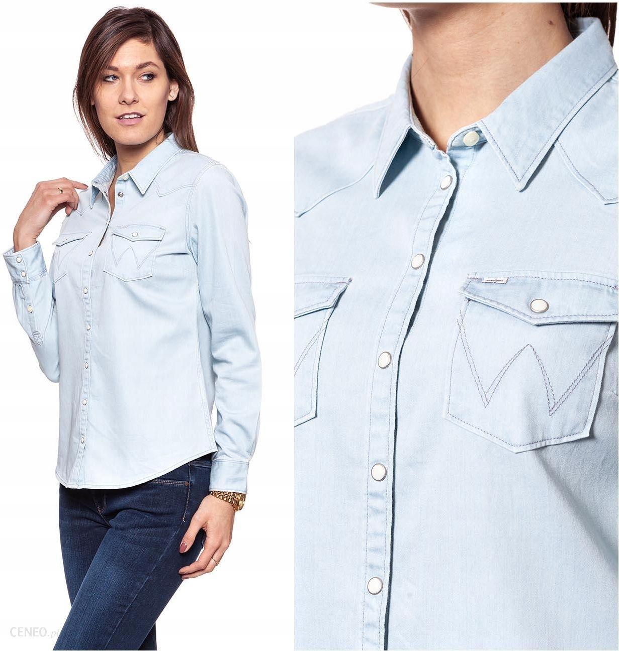 Wrangler Western Shirt Koszula Damska Jeans M Ceny i  B1mYi