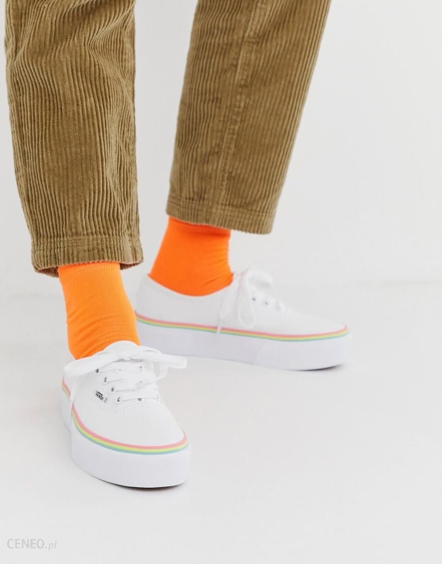 Vans Slip On Platform red rainbow trainers | ASOS