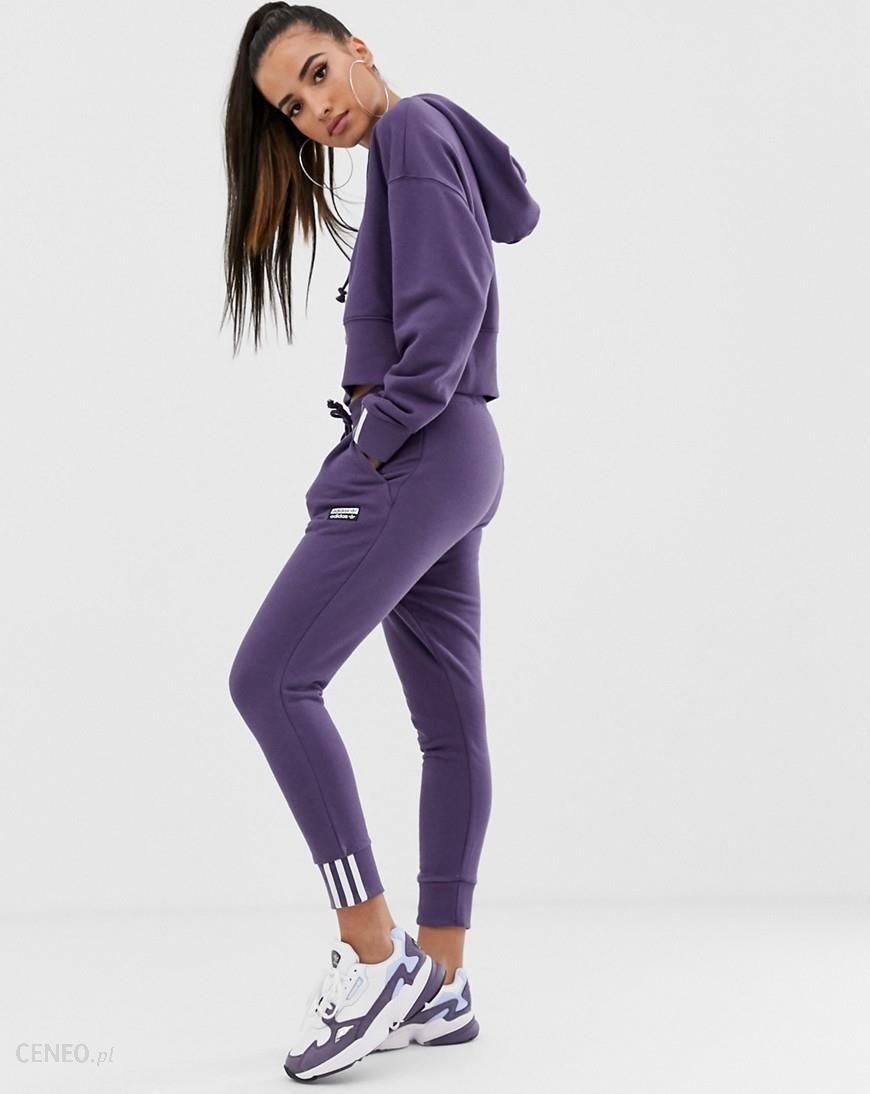 adidas Originals RYV cuffed jogger in purple Purple