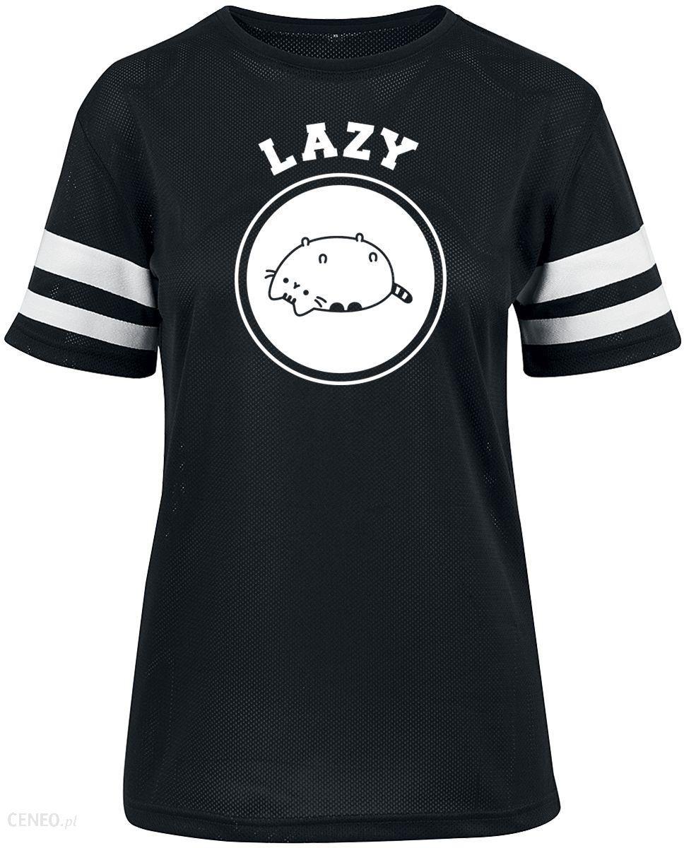 Pusheen Lazy T Shirt Kobiety czarny Ceny i opinie Ceneo.pl
