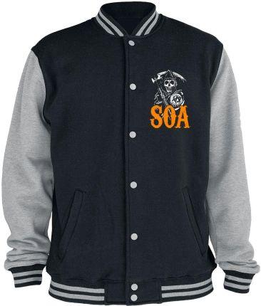 82d8bffdbbccd Sons Of Anarchy - Reaper - Orange - Kurtka College Jacket - Mężczyźni -  melanż czarny