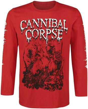 5cc7384afd4672 Cannibal Corpse - Pile Of Skulls 2018 - Longsleeve - Mężczyźni - czerwony  ...