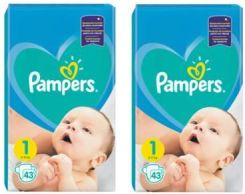 Pampers New Baby-Dry 1 Newborn 2X43Szt