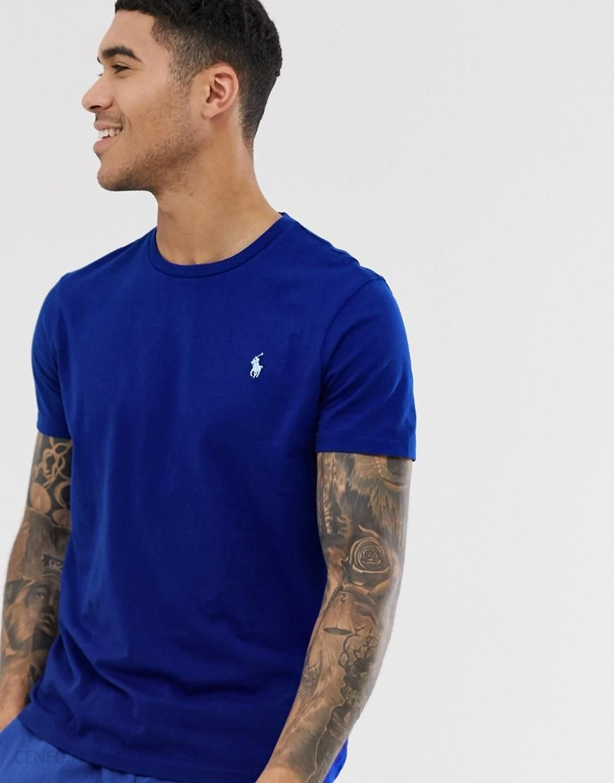 Polo Ralph Lauren player logo t shirt in royal blue Blue Ceneo.pl