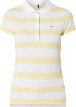 efe0b16113449 Tommy Hilfiger Koszulka polo o kroju slim fit z wyhaftowanym logo ...