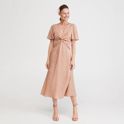 12791ebf Cropp - Sztruksowa sukienka ogrodniczka - Różowy - Ceny i opinie ...