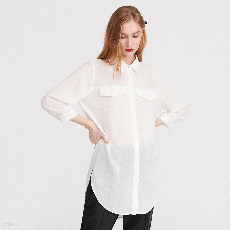 56fe54c73ae397 Reserved - Długa koszula z wiskozy - Kremowy - Ceny i opinie - Ceneo.pl